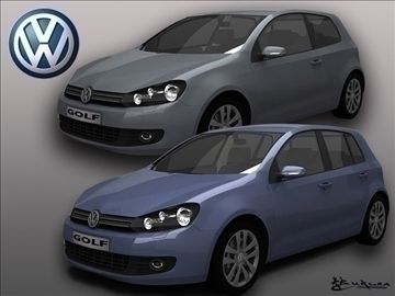 Volkswagen golf vi paket1 3d model max 102237