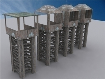 watch tower pack 3d model 3ds max 109807