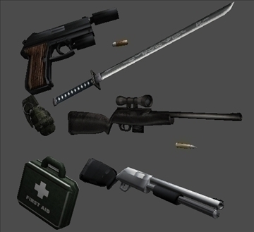 weapons pack for games 3d model obj 107103