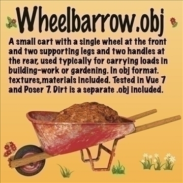 wheelbarrow.obj 3d model obj 105030