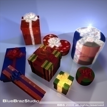 xmas gifts 3d model 3ds dxf c4d obj 92196