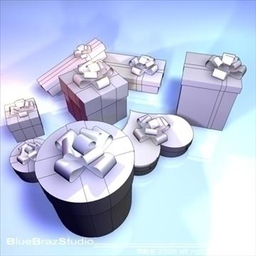 xmas gifts 3d model 3ds dxf c4d obj 92200