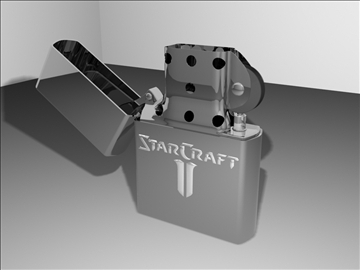 zippo lighter starcraft ii edition 3d model max 84331
