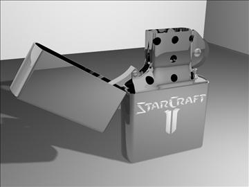 zippo šķiltavas starcraft ii izdevums 3d modelis max 84332