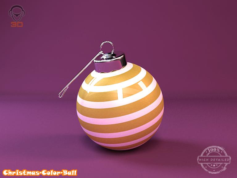 christmas color ball 3d model 3ds max fbx obj 148293