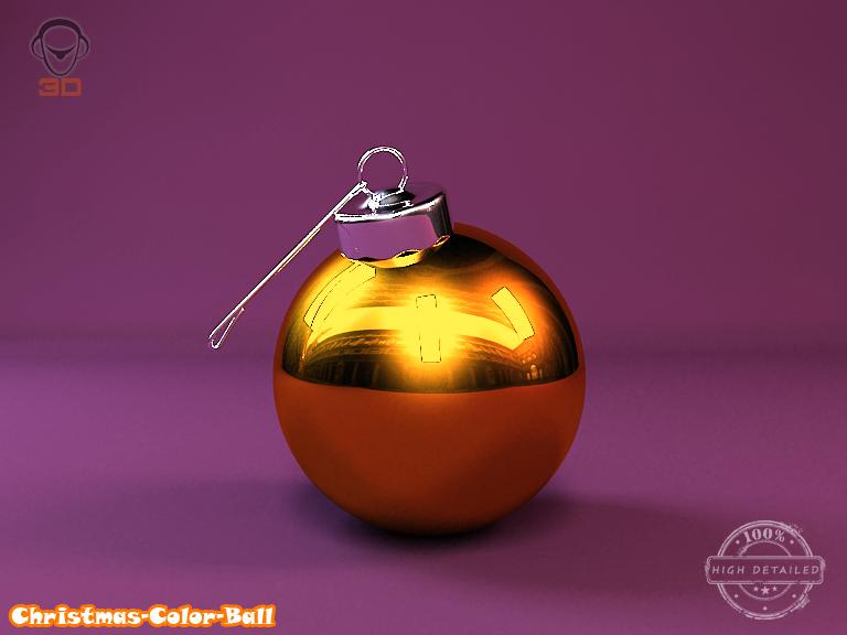 christmas color ball 3d model 3ds max fbx obj 148294