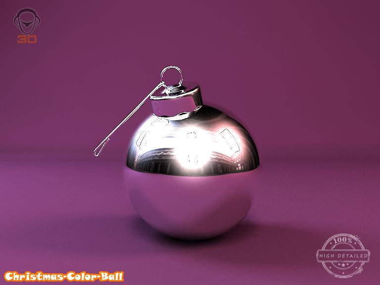 christmas color ball 3d model 3ds max fbx obj 148295