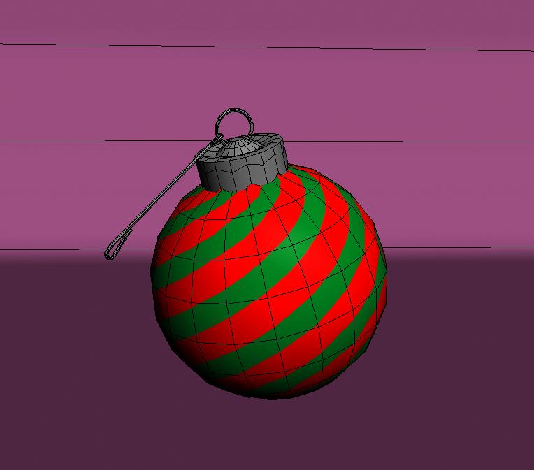 christmas color ball 3d model 3ds max fbx obj 148297