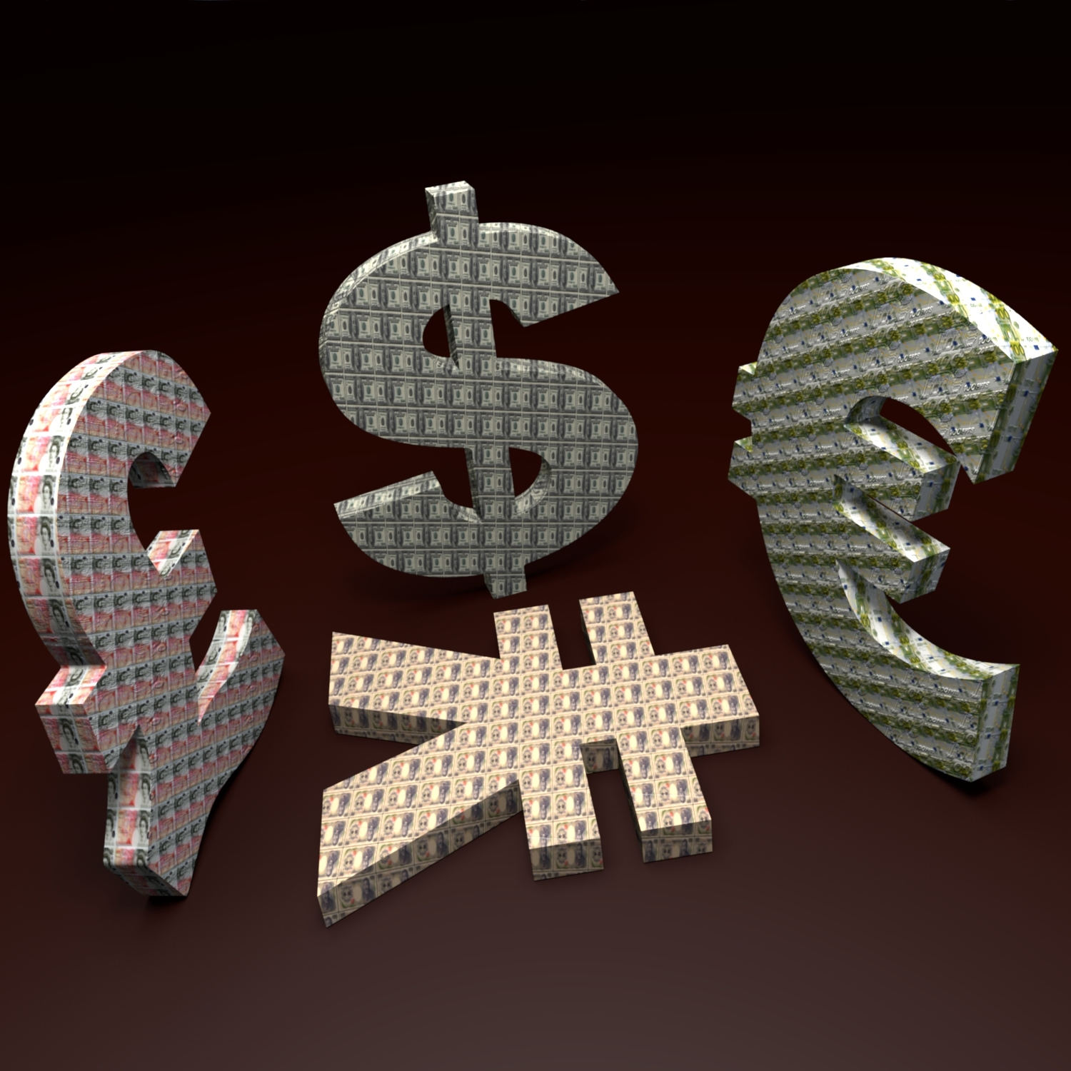 currency simbols 3d model blend obj 116229