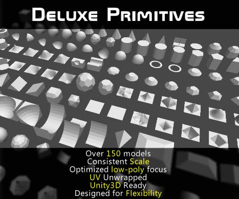 deluxe primitives 3d model obj 157463