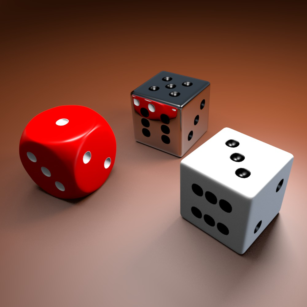 dice collection 3d model blend obj 116247