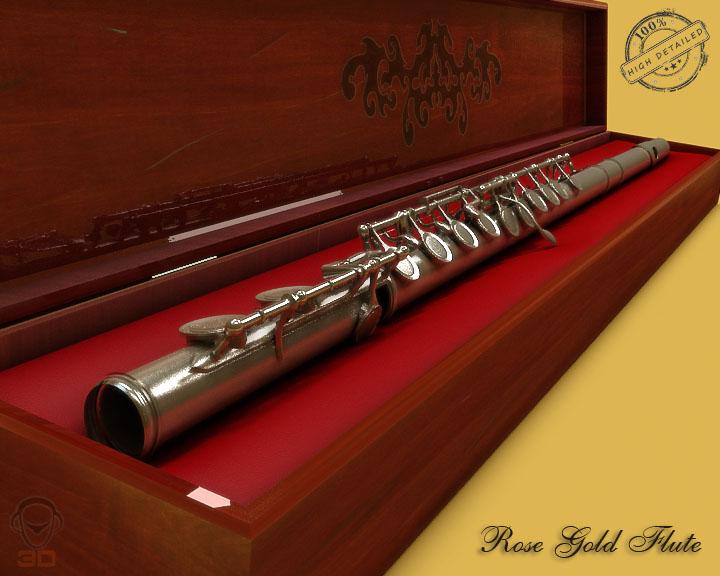 flute 3d model 3ds max fbx obj 129064