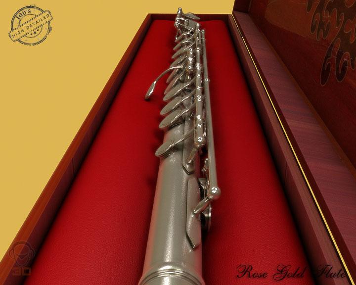 flute 3d model 3ds max fbx obj 129066