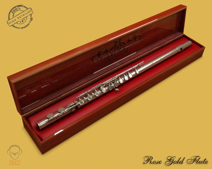 flute 3d model 3ds max fbx obj 129067