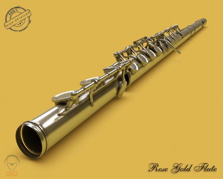 flute 3d model 3ds max fbx obj 129068