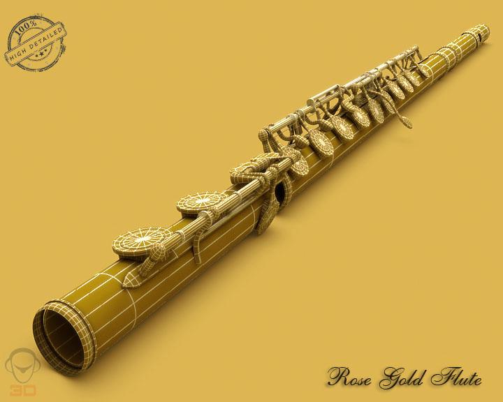 flute 3d model 3ds max fbx obj 129070