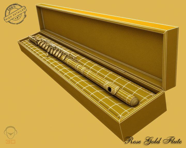 flute 3d model 3ds max fbx obj 129071