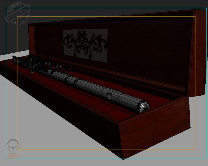 flute 3d model 3ds max fbx obj 129072