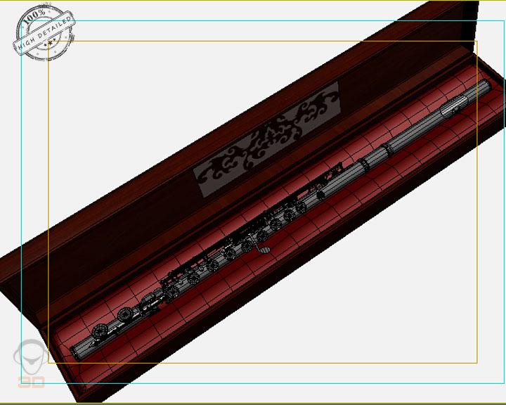 flute 3d model 3ds max fbx obj 129073