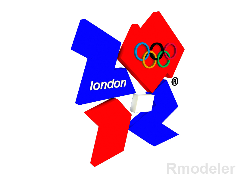 london games olimpic 2012 3d logo 3d model dae ma mb obj 118802