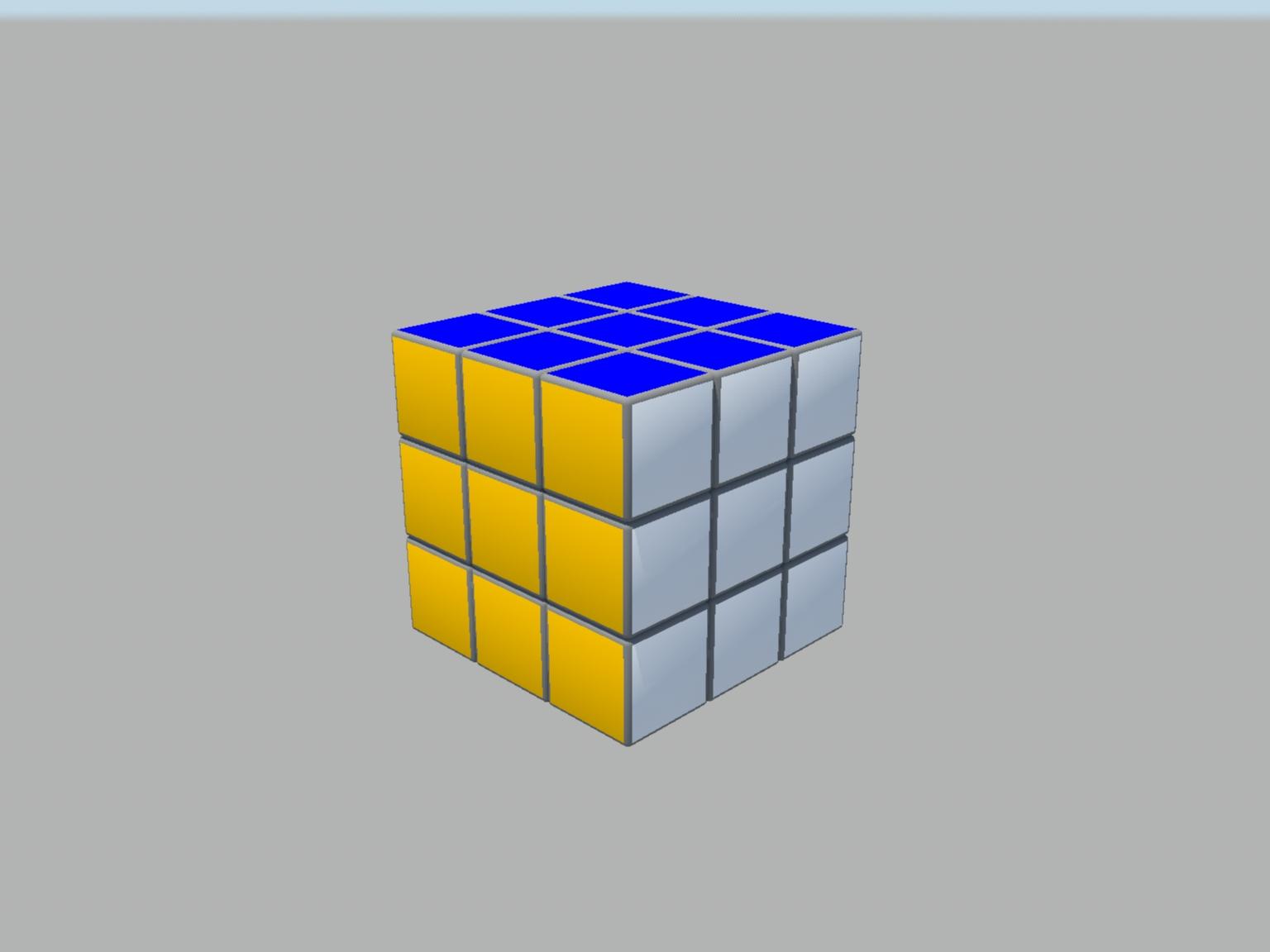 rubiks cube 3d model obj 129390