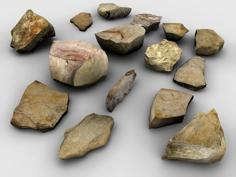 stones collection bundle 3d model 3ds max obj 128008