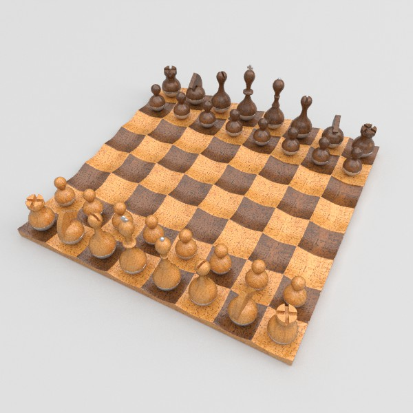 wobble chess set 3d model fbx blend obj 138380