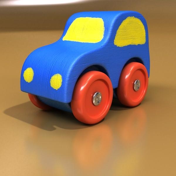 wooden toy car truck & plane 3d model 3ds max fbx obj 129524