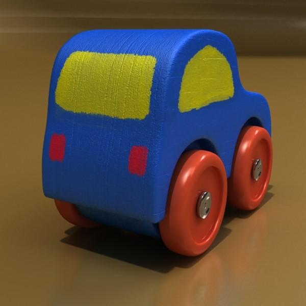 wooden toy car truck & plane 3d model 3ds max fbx obj 129526