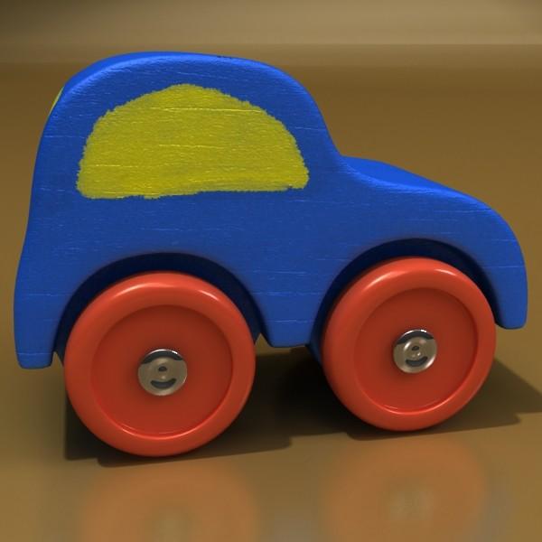 wooden toy car truck & plane 3d model 3ds max fbx obj 129527