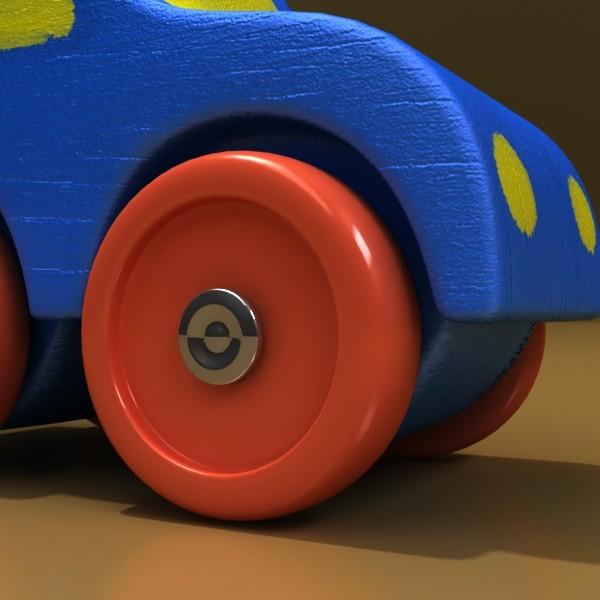 wooden toy car truck & plane 3d model 3ds max fbx obj 129528