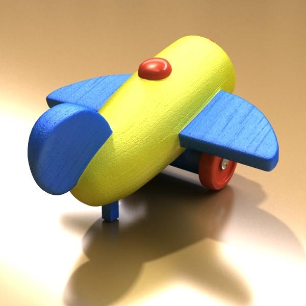 wooden toy car truck & plane 3d model 3ds max fbx obj 129534