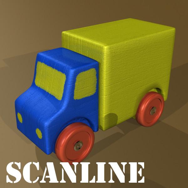 wooden toy car truck & plane 3d model 3ds max fbx obj 129546