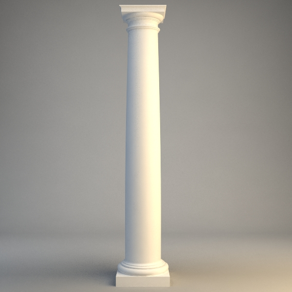 classical stone column 2 3d model 3ds max fbx obj 115002