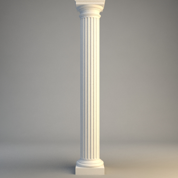 classical stone column 3d model 3ds max fbx obj 114724