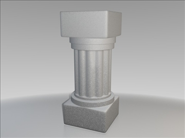 piedestal roman 3d model 3ds fbx blend obj 111098