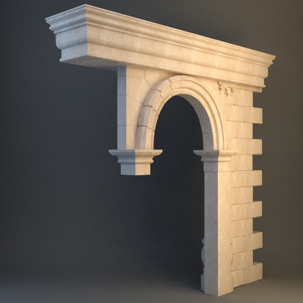 Stone Column And Arch 3d Model Buy Stone Column And Arch