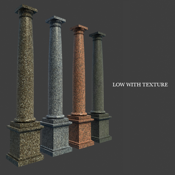 Well-liked Marble Roman Tuscan Columns With Pedestal high low 3D Model – Buy  IA37