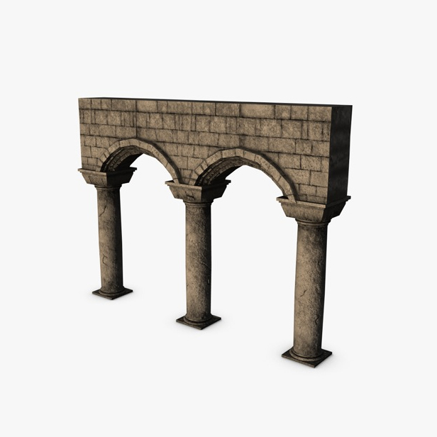 akmens kolonnas ar arkas moduli 3d modelis 3ds max fbx c4d obj 138734