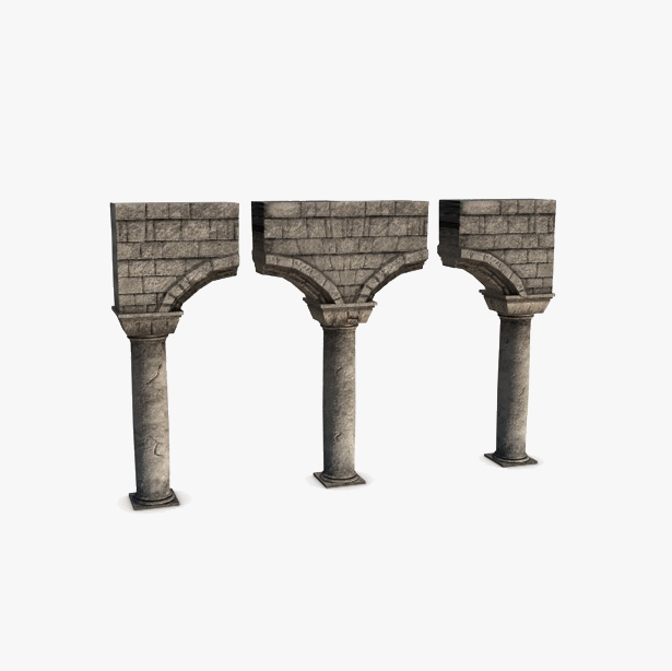 akmens kolonnas ar arkas moduli 3d modelis 3ds max fbx c4d obj 138736