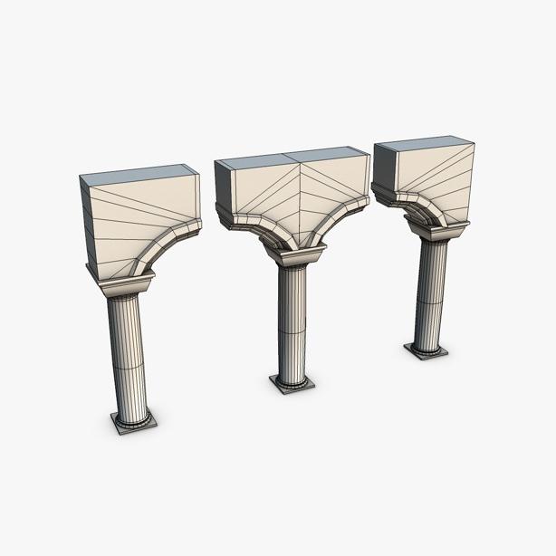akmens kolonnas ar arkas moduli 3d modelis 3ds max fbx c4d obj 138737