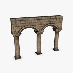 Stone columns with arches module ( 100.41KB jpg by Bondiana )
