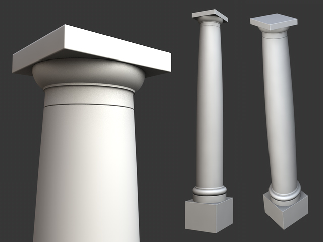 Lovely Vitruvius Tuscan Roman order column with pedestal 3D Model – Buy  WK86