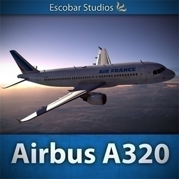 a320 airbus air france 3d model dxf fbx ma mb obj 109743