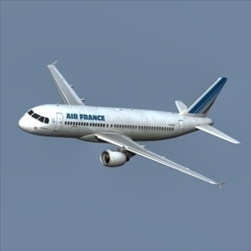 a320 airbus air france 3d model dxf fbx ma mb obj 109747