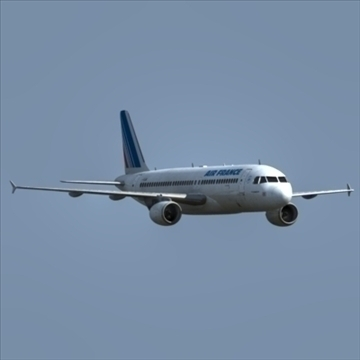 a320 airbus air france 3d model dxf fbx ma mb obj 109748