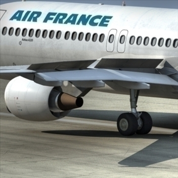 a320 airbus air france 3d model dxf fbx ma mb obj 109752