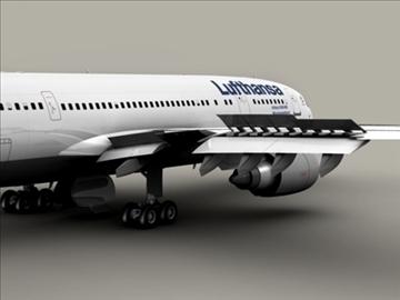 airbus a300 lufthansa 3d model 3ds max obj 94829