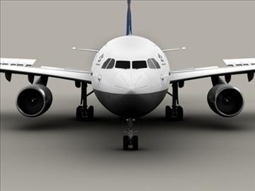 airbus a300 lufthansa 3d model 3ds max obj 94830