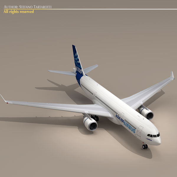 airbus a330-200 v1 3d загвар 3ds dxf c4d obj 116744